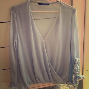 Zara sheer blouse. NWOT